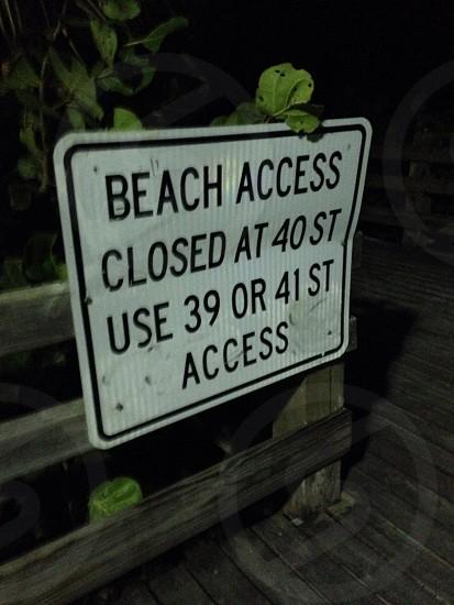 South Beach @ night Miami Florida  photo