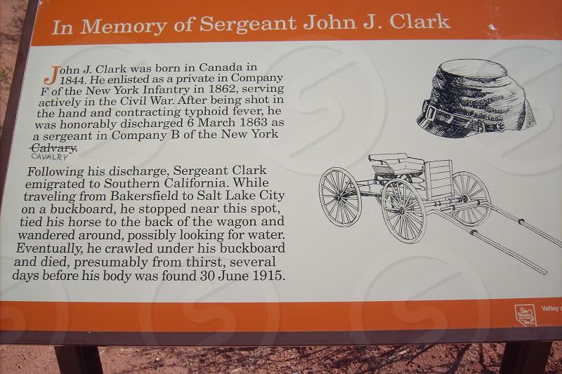 in memory of sergeant john j. clark placard photo
