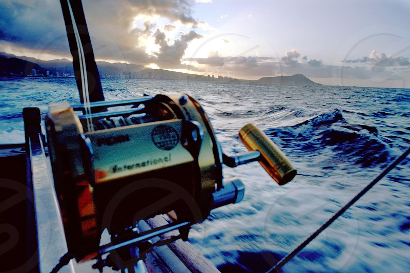 Trolling off the South Shore of Oahu Hawaii. photo