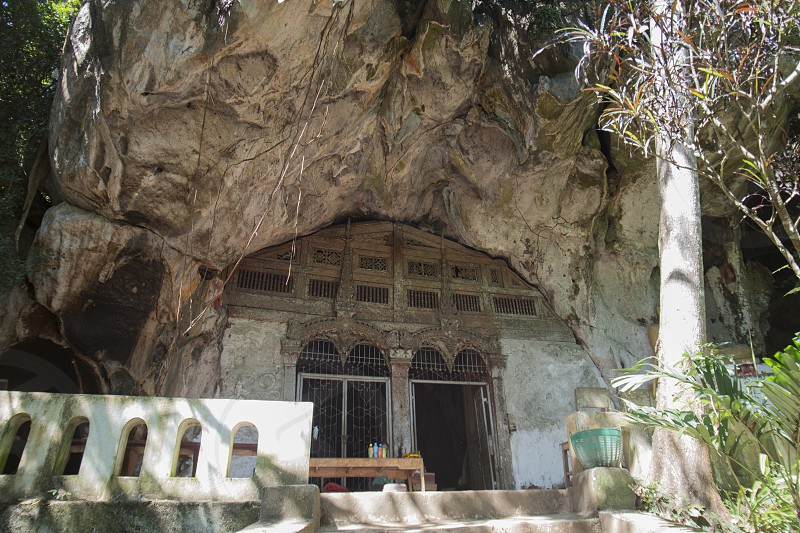 the Buddha Cave of Pak Ou Caves at the Mekong River in the town of Luang Prabang in the north of Laos in Southeastasia. photo