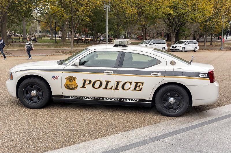 Secret Service car in Washington DC photo