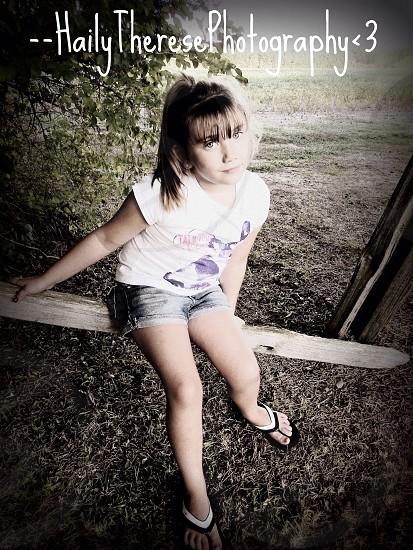 My little cousin Marissa's photo shoot with me last summer - 2013 photo