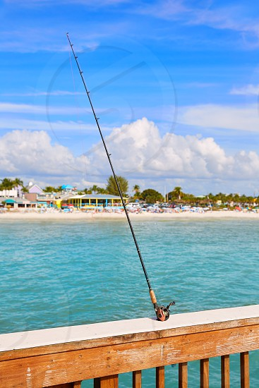 Florida Fort Myers Pier beach in USA photo
