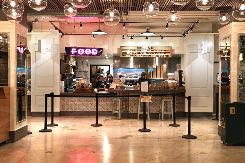 Antique Taco stand in Revival Food Hall photo
