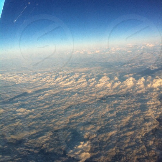 Clouds from plane photo