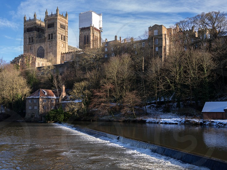 DURHAM COUNTY DURHAM/UK - JANUARY 19 : View along the River Wear to the Cathedral in Durham County Durham on January 19 2018 photo