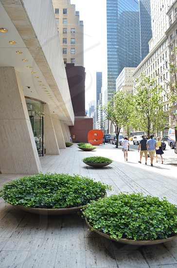 New York City Building People Walking  photo