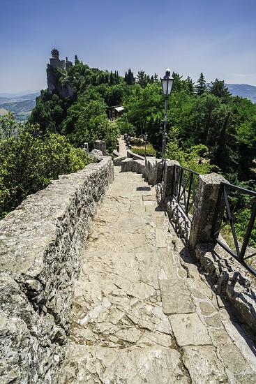 San Marino castle. Summer time. Sunny day photo