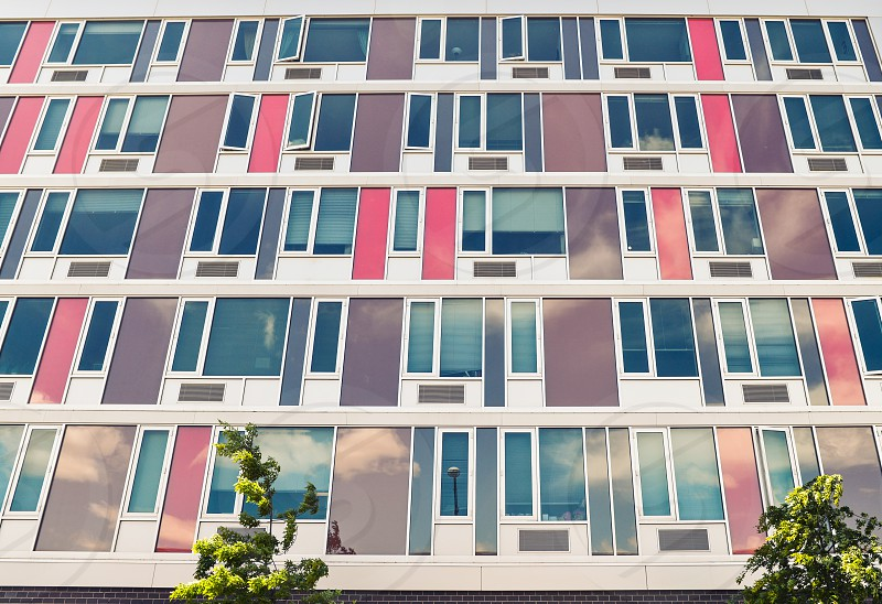 building Brooklyn pattern colors windows modern photo