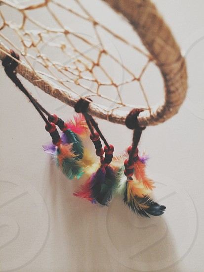 dream catcher top view photo photo