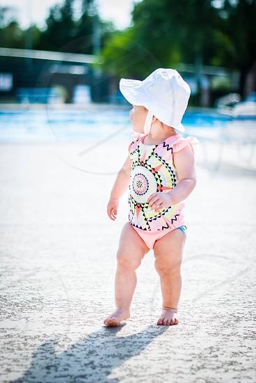 Swimming baby photo