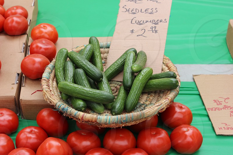 Vegetables at a farmers market in New York City photo