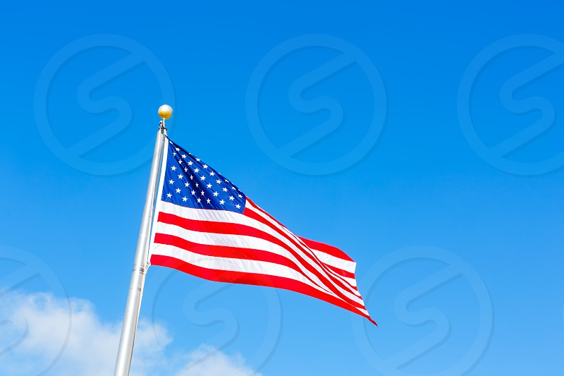US Flag Blowing in the Breeze photo