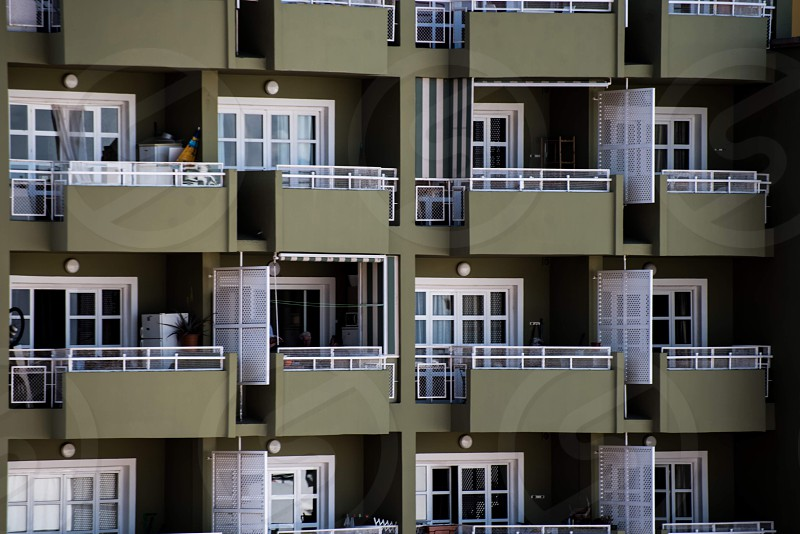 Building balconies architecture  photo