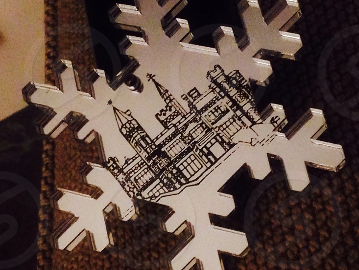Contemporary snowflake decoration photo