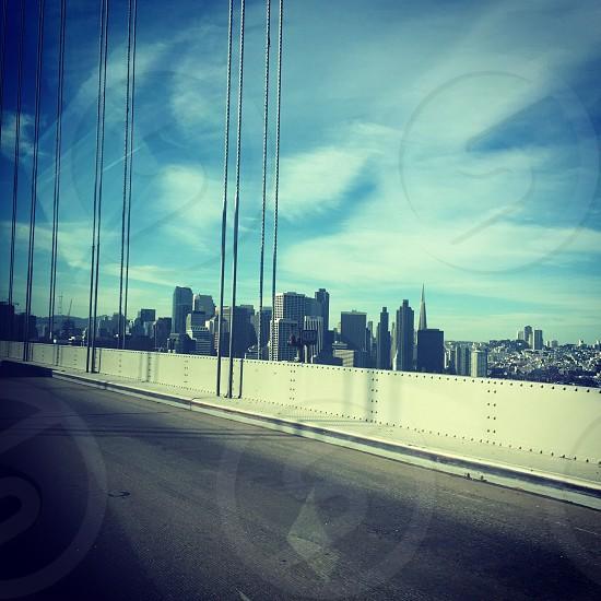 Downtown San Francisco from bay bridge photo