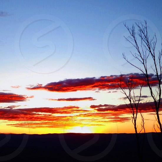 The Australian Blue Mountains Sunset photo