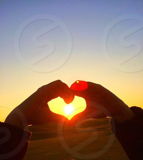 Spring sun heart sky photo