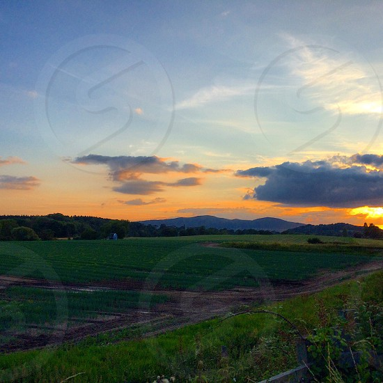 Sunset view of the Malvern Hills Hereford & Worcestershire.  photo