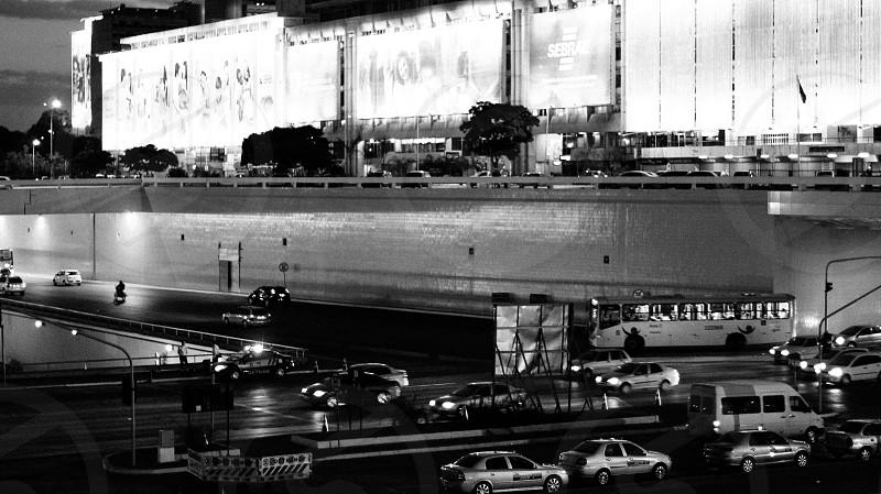 CarStreetLightsBlack and Whithe  Brasilia  Conceitual photo