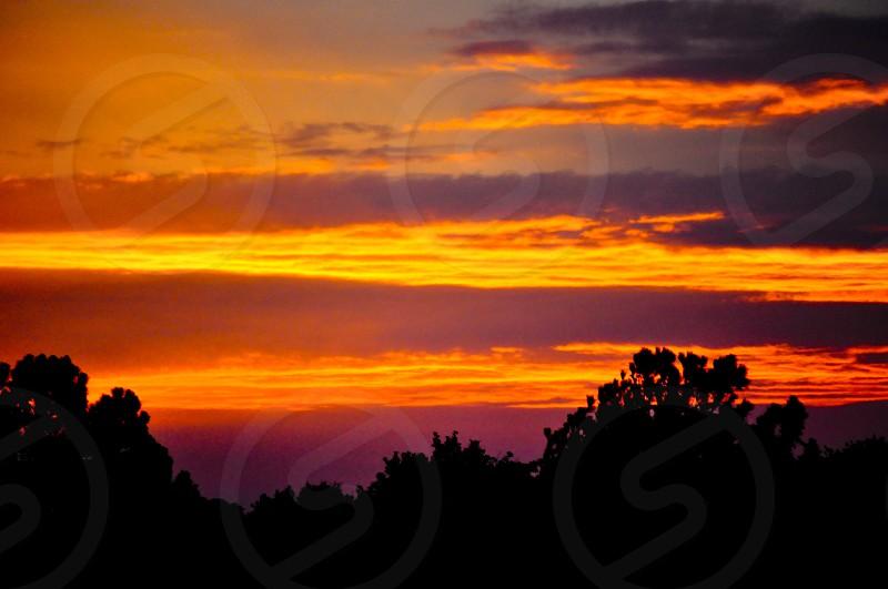 Orange sunset over Indiana photo