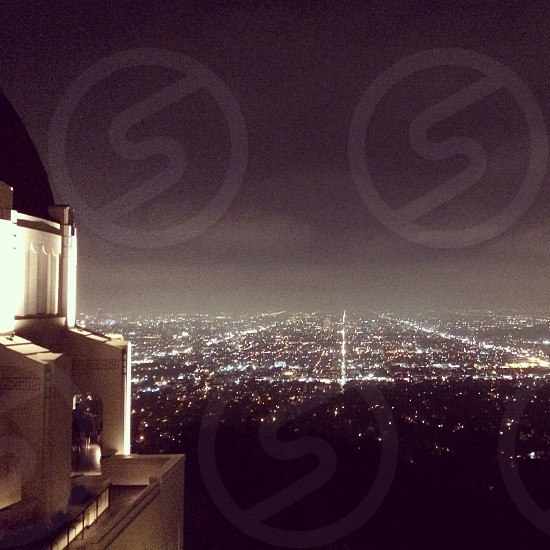los angeles city lights from griffith park observatory photo