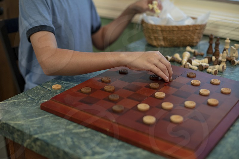 Playing board games photo