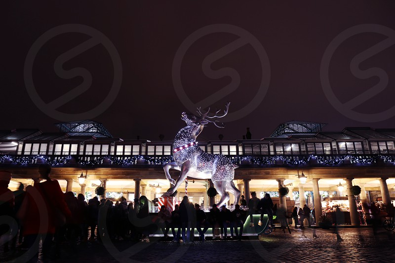 Covent Garden Christmas decorations London. photo