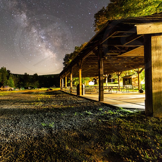 milkyway behind campground pavilion photo