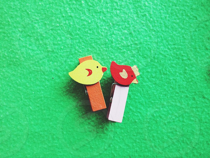 Kids color bright spring green background toys activity nice cutestylishchild children chick chicken red yellow photo