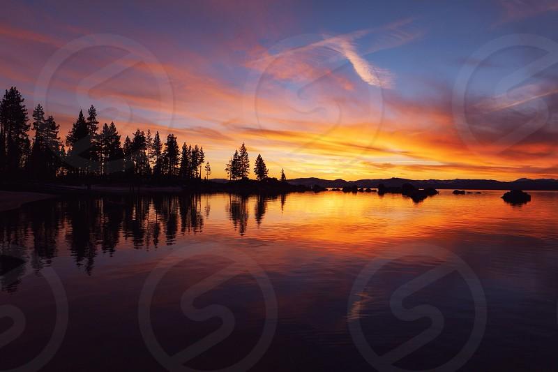Sunset on Lake Tahoe photo