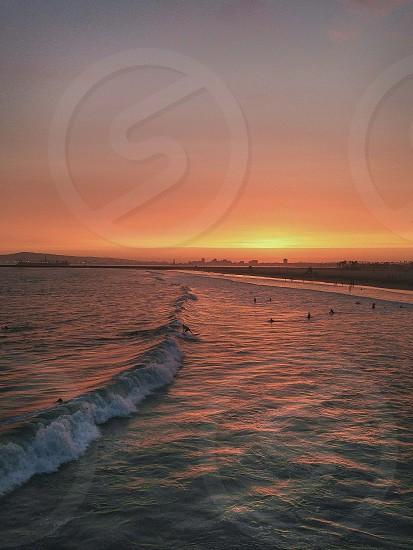 seal beach sunset  photo
