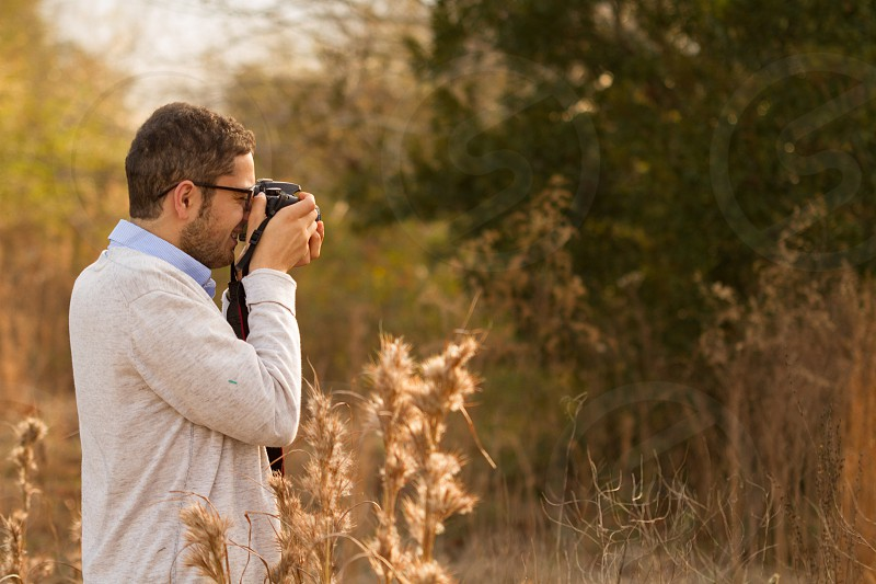 Friend taking photos photo