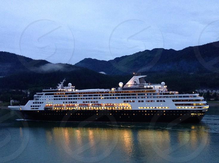 Twilight cruise ship photo