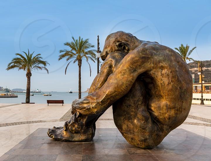11M memory memorial sculpture at Cartagena port promenade Spain photo