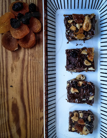 chocolate nut brownies photo