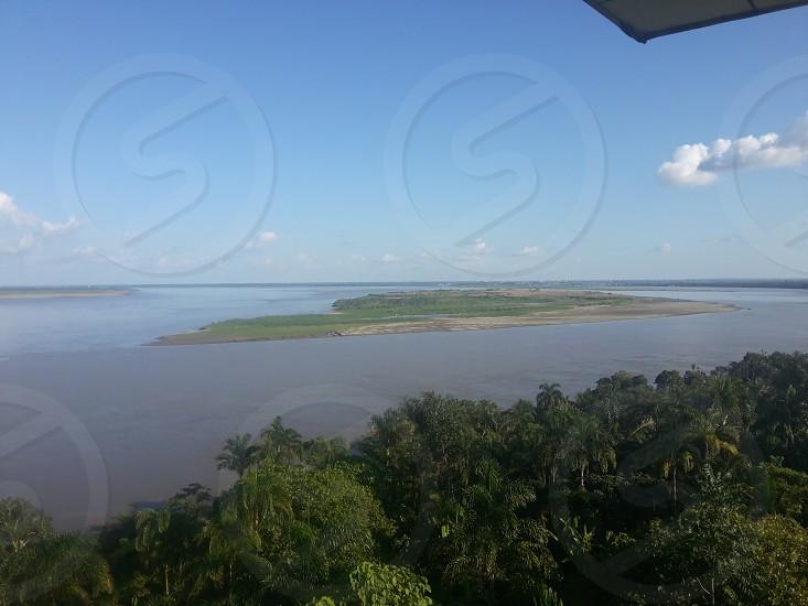 vista rio amazonas peru photo