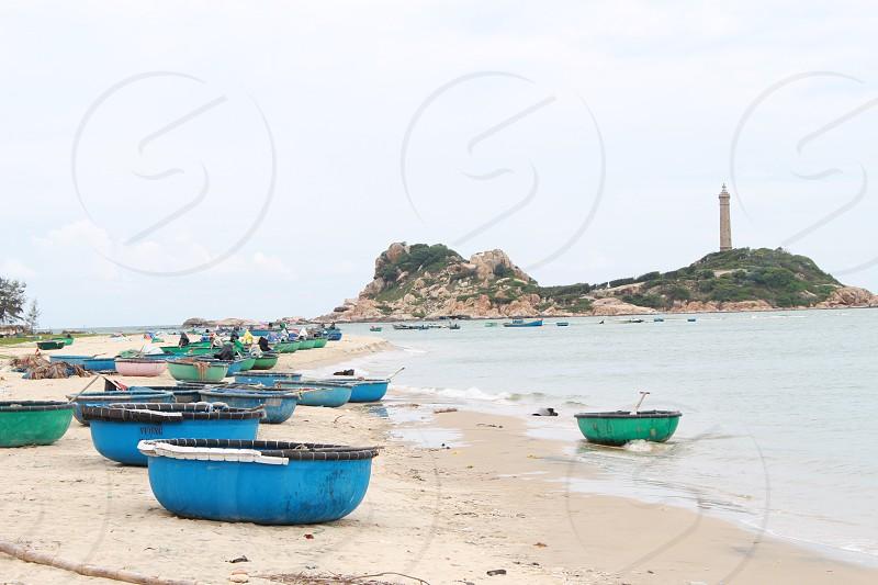 Viet nam- Binh Thuan Beach ( Coracle ) photo
