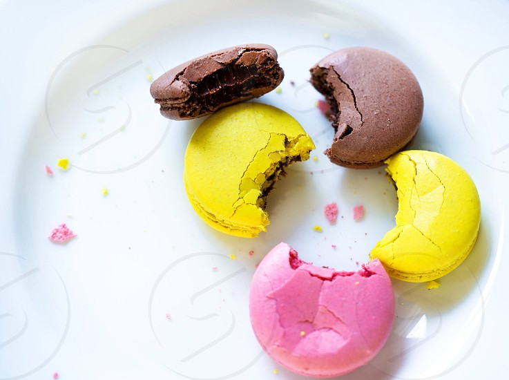 Sweet macaroons food tasty colored macaroons macaroon  photo