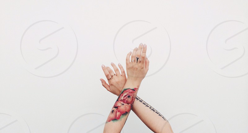 My hands. photo