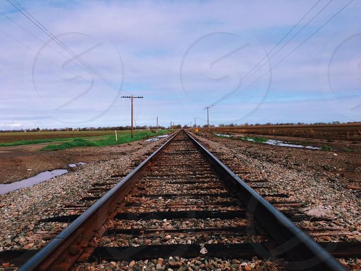 railroad low angle photography photo