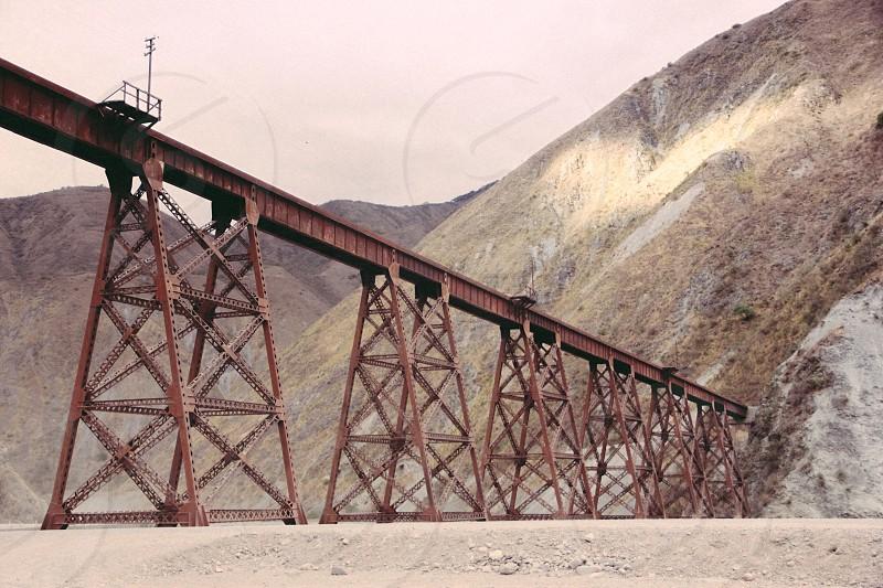Rails train Argentina photo