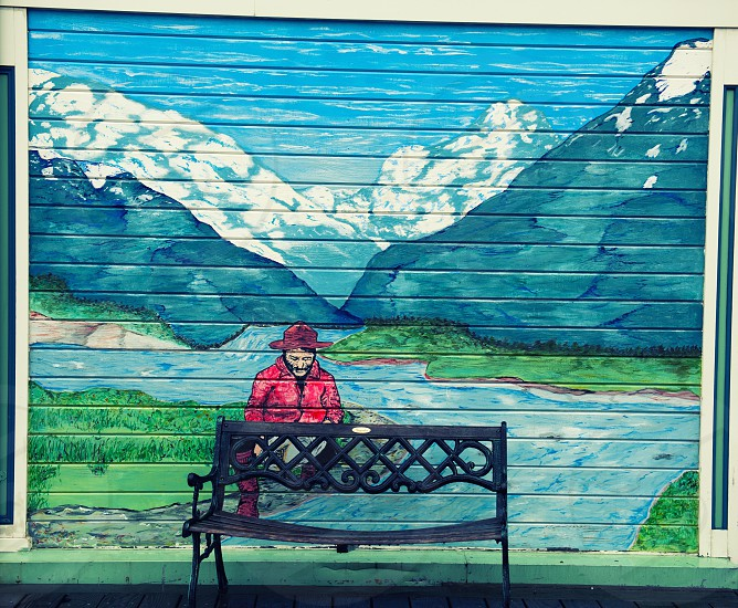 Bench in Alaska photo