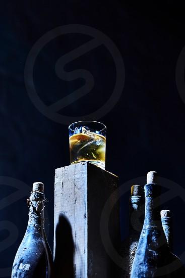 Still life of Scotch on a pedestal photo