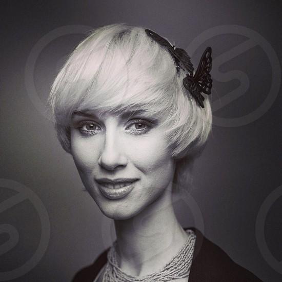 Hair fashion lookbook b&w beauty polishgirl photo