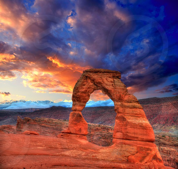 Arches National Park Delicate Arch sunset in Moab Utah USA photo mount photo