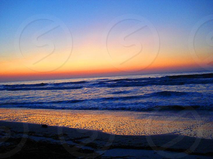 Sunrise over the ocean Hilton Head SC photo
