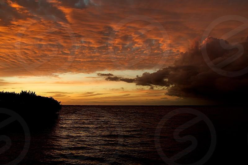 Sunset Florida color water clouds paradise landscape photo