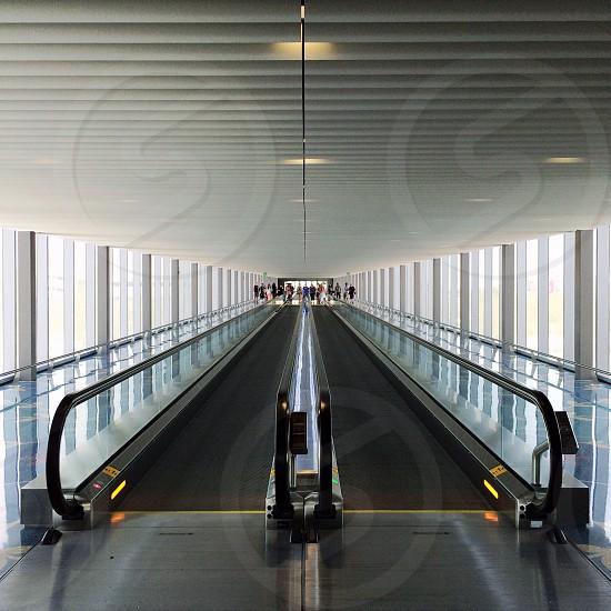 airport escalator photo