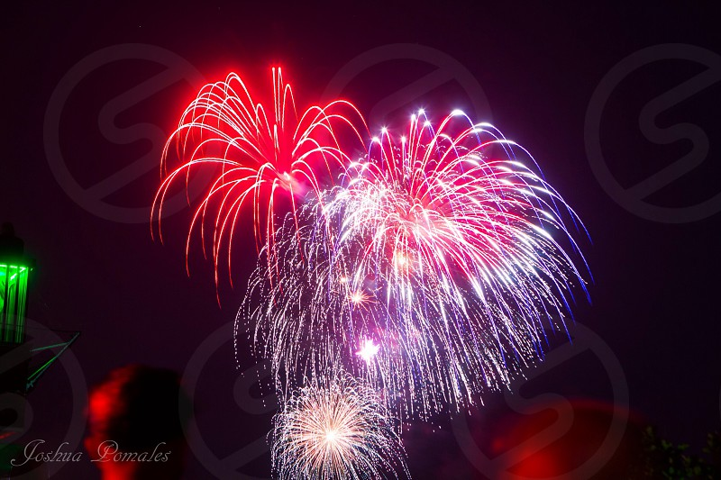 Fireworks show on the Fourth of July. photo